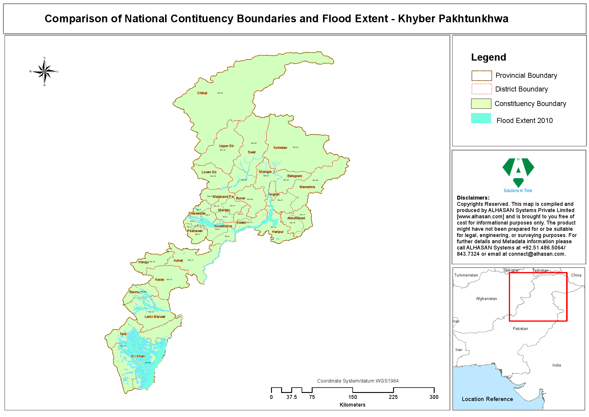 Comparison Of National Contituency Boundaries And Flood